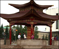 A Buddhist shrine in Kyzyl