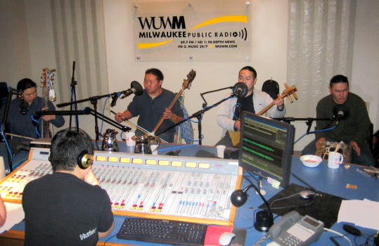 Alash at the WUWM studio