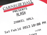 Carnegie Hall ticket
